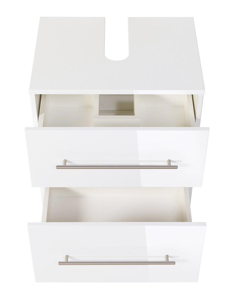 Saniclear Universal badkamerkast op wieltjes hoogglans wit 55cm - BS7000