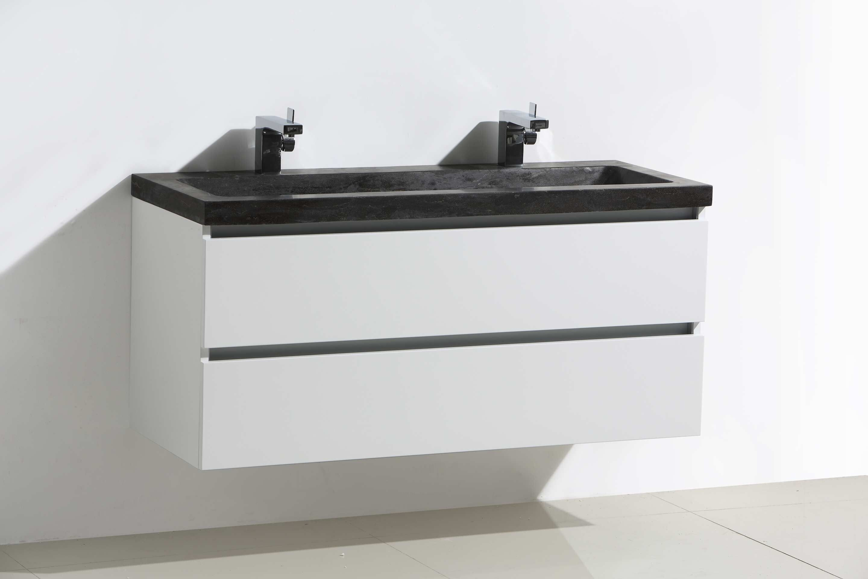 Lambini designs trend stone badmeubel cm hoogglans wit met