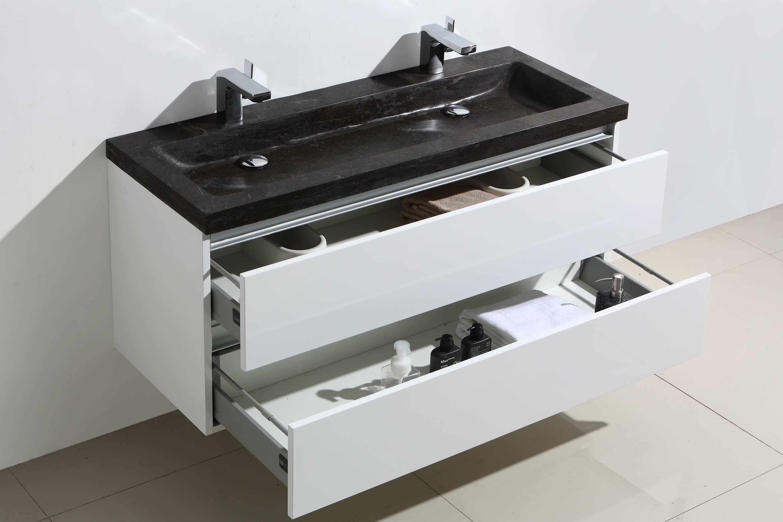 Badkamermeubel Met Badkamerkast : Lambini designs trend stone badmeubel cm hoogglans wit met