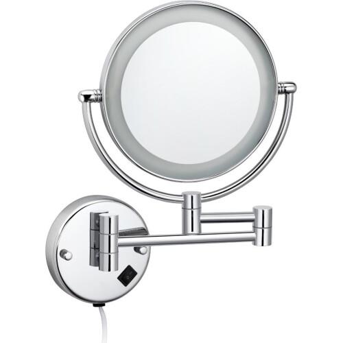 Best Design Make-up spiegel met LED verlichting 20cm chroom