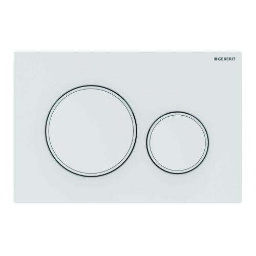 Geberit Sigma20 bedieningsplaat tweeknopsspoeling easy-to-clean mat wit