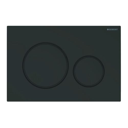 Geberit Sigma20 bedieningsplaat tweeknopsspoeling easy-to-clean mat zwart