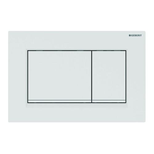 Geberit Sigma30 bedieningsplaat tweeknopsspoeling easy-to-clean mat wit