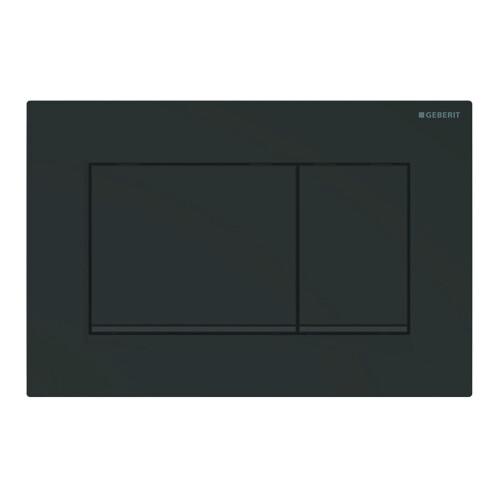Geberit Sigma30 bedieningsplaat tweeknopsspoeling easy-to-clean mat zwart