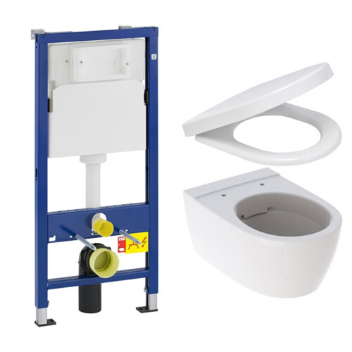 Geberit UP100 toiletset met Geberit iCon Rimfree toilet en softclose zitting