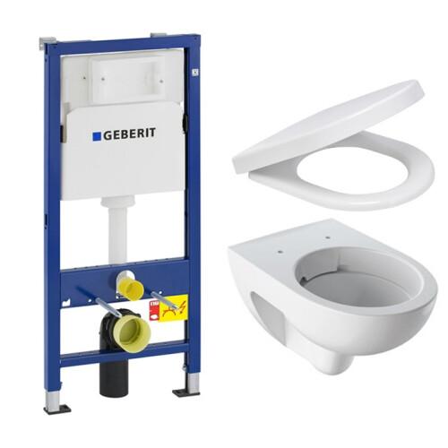 Geberit UP100 toiletset met Geberit Renova Rimfree toilet en softclose zitting