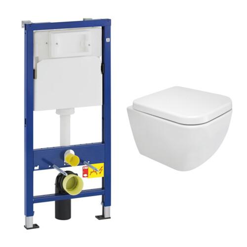 Geberit UP100 toiletset met Mueller Cielo Compact toilet en softclose zitting