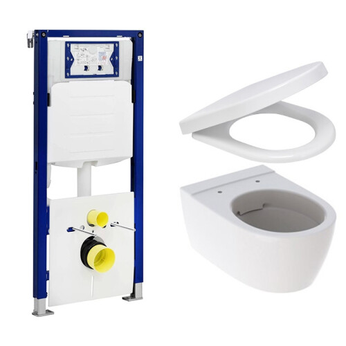 Geberit UP320 toiletset met Geberit iCon Rimfree toilet en softclose zitting