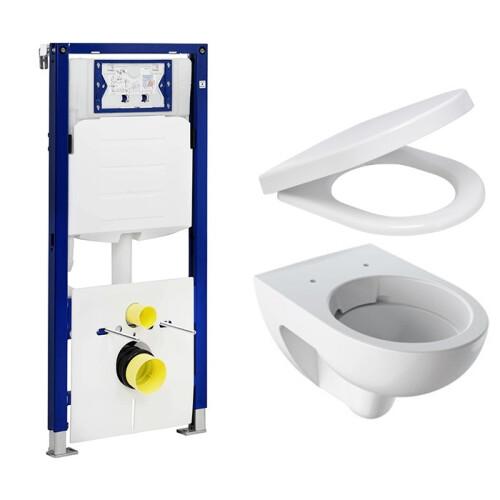 Geberit UP320 toiletset met Geberit Renova Rimfree toilet en softclose zitting