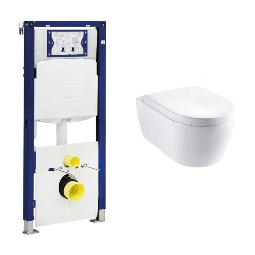 Geberit UP320 toiletset met Lambini Sub Compact en softclose zitting