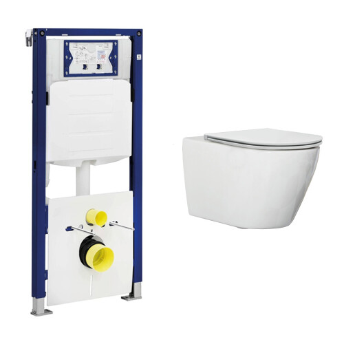 Geberit UP320 toiletset met Saniclear Jama randloos toilet en softclose zitting