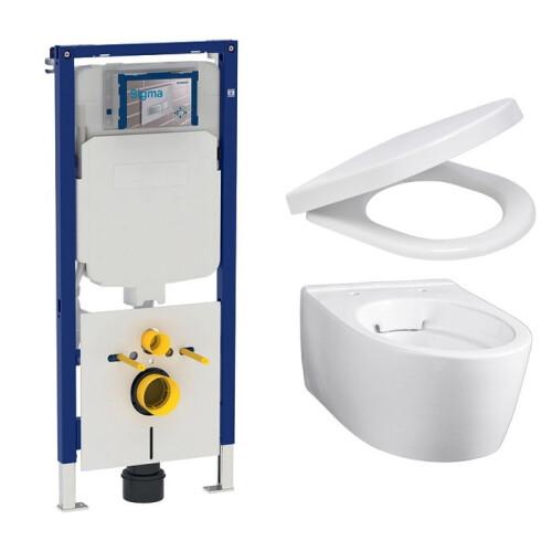 Geberit UP720 toiletset met Geberit iCon Rimfree Compact en softclose zitting