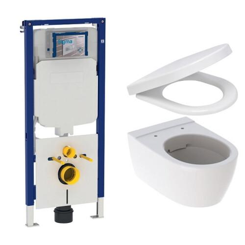 Geberit UP720 toiletset met Geberit iCon Rimfree toilet en softclose zitting