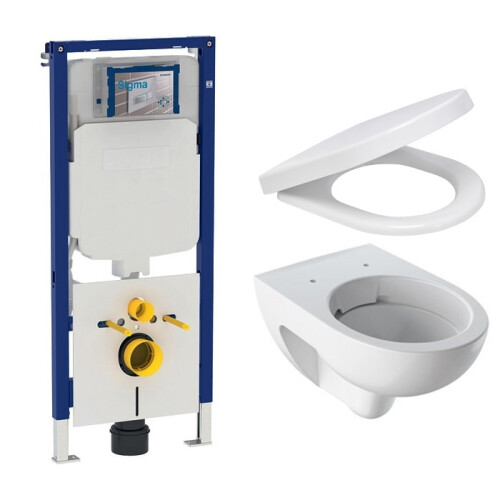 Geberit UP720 toiletset met Geberit Renova Rimfree toilet en softclose zitting
