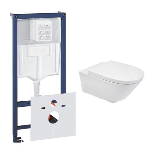 Grohe Rapid toiletset met Mueller Sub en softclose zitting