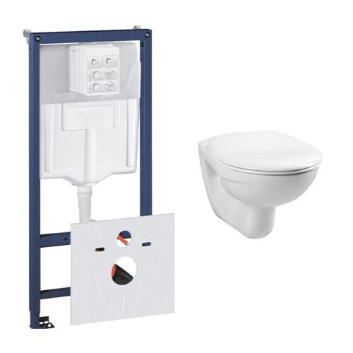 Grohe Rapid toiletset met Plieger Basic toilet en standaard zitting