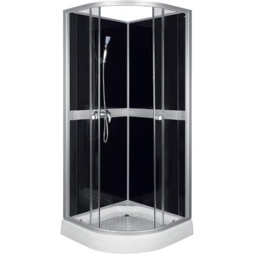 Kerra Classic Black gesloten douchecabine 90x90x210cm