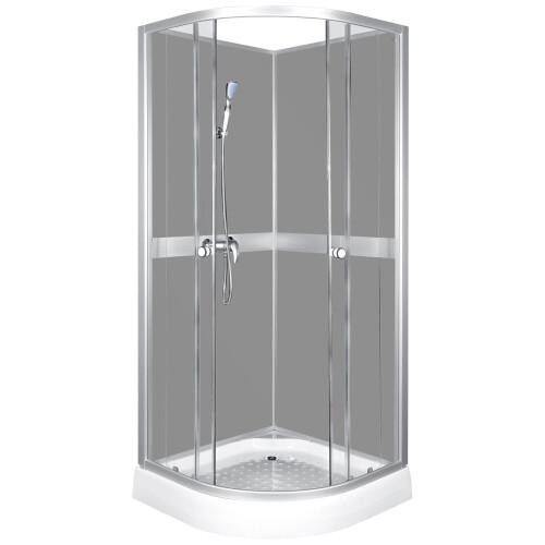 Kerra Classic Grey gesloten douchecabine 90x90x210cm