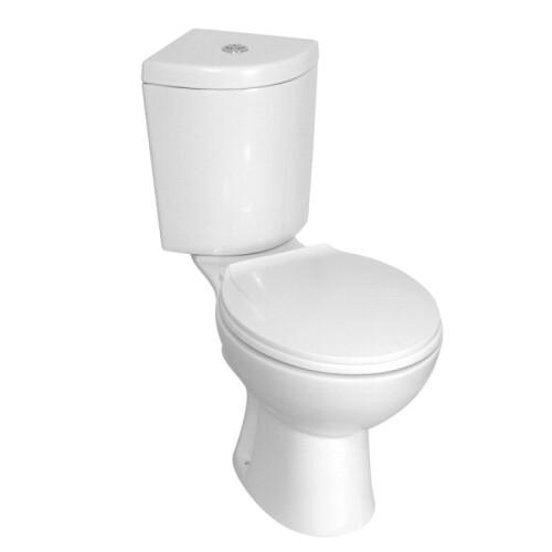 Kerra Corner hoek toilet met reservoir en zitting wit