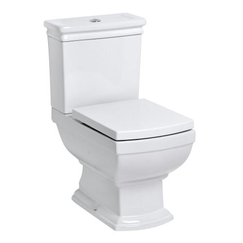 Kerra Kleopatra duoblok wc combinatie 41x65cm wit