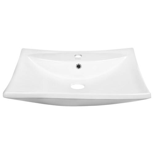 Kerra KR 721 waskom  met kraangat 60x43,5cm wit