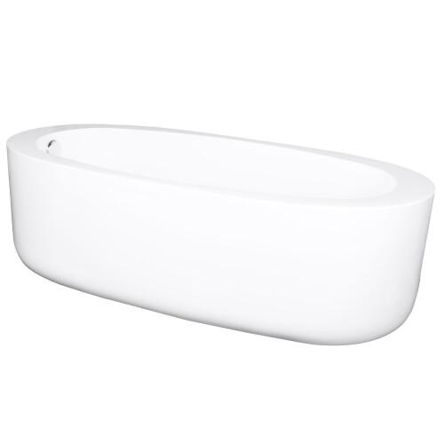Kerra Pola vrijstaand bad 170x80cm wit