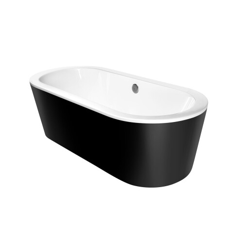 Kerra Zeus vrijstaand bad 180x80cm zwart wit