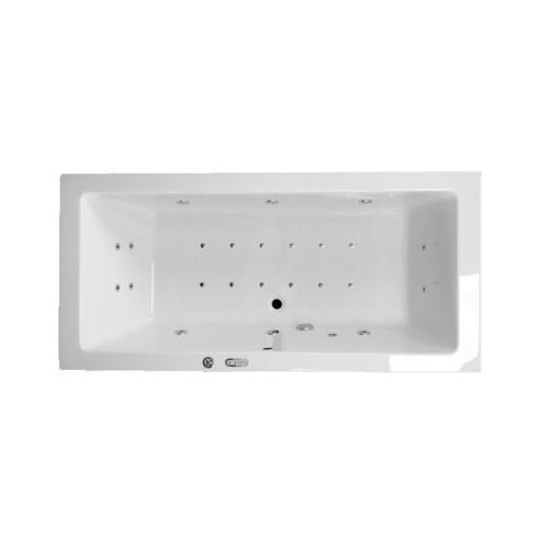 Lambini Designs Cube whirlpool 190x90cm LED verlichting, 6+4+2 hydro- en 12 aero jets