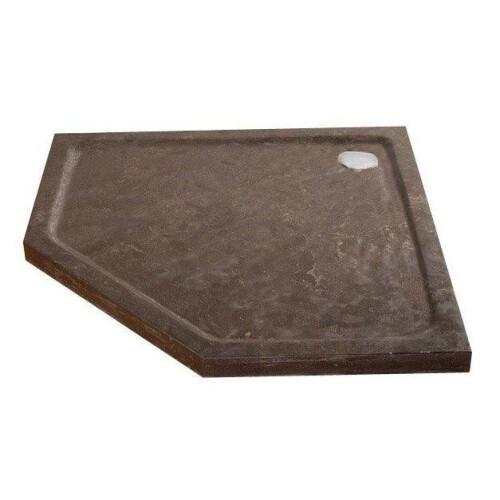Lambini Designs Stone natuursteen douchebak vijfhoek 90x90cm