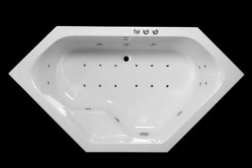 Lambini Designs Venetië hoekbad whirlpool 145x145cm 6+4+2 hydro en 12 aero jets
