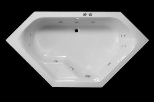 Lambini Designs Venetië hoekbad whirlpool 145x145cm 6+4+2 hydro jets