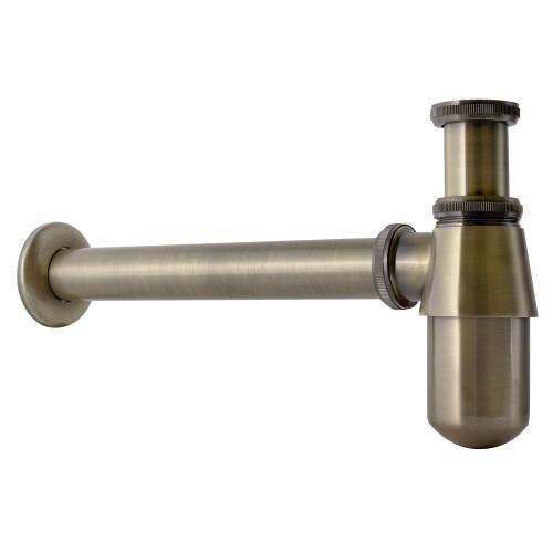 Loqé Luxor bronze design sifon met muurbuis