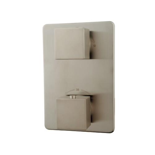Mueller Cube afbouwdeel 2-weg thermostaat kraan RVS-look