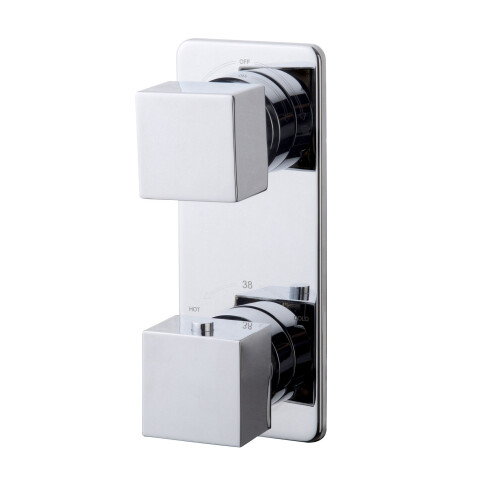Mueller Cube inbouw 2-wegs douchethermostaat chroom