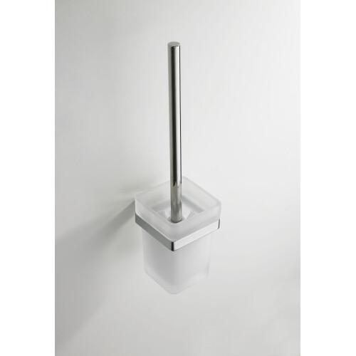 Mueller Cube toiletborstel met glas chroom