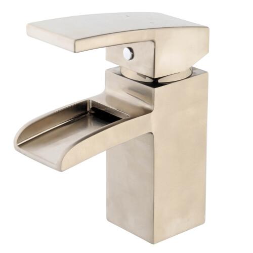 Mueller Cube watervalkraan met klikwaste rvs look