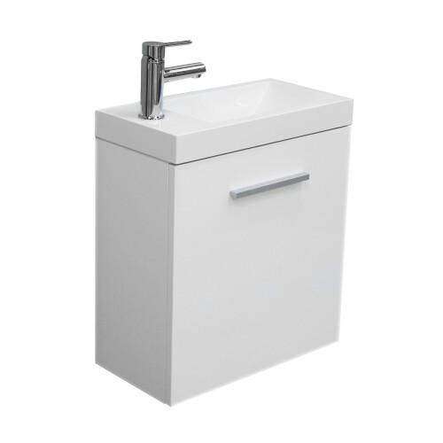 Mueller Emma toiletmeubel 50cm hoogglans wit compleet met kraan en sifon