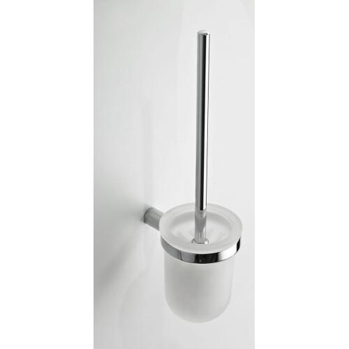 Mueller Round toiletborstel chroom met houder