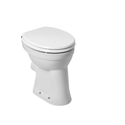 Mueller staande verhoogde toiletpot +6 PK wit