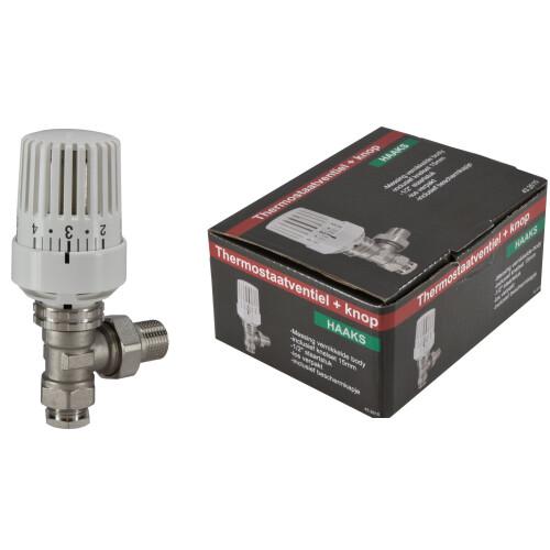Mueller thermostatische radiatorkraan 1/2''x15mm haaks
