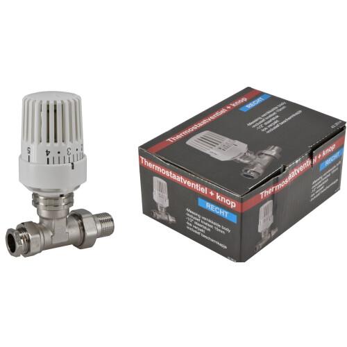 Mueller thermostatische radiatorkraan 1/2''x15mm recht