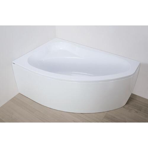 Plazan Ekoplus badkuip met kap 140x90cm wit links