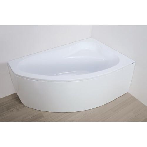 Plazan Ekoplus badkuip met kap 145x95cm wit rechts