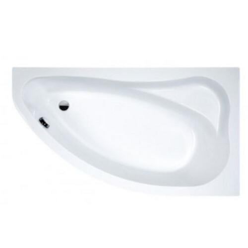 Plazan Ekoplus hoekbad met zitvlak 140x90cm wit rechts