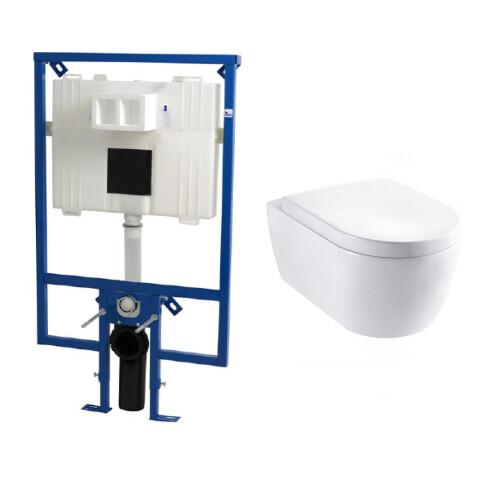 Plieger Flair Compact toiletset met Lambini Sub Compact en softclose zitting