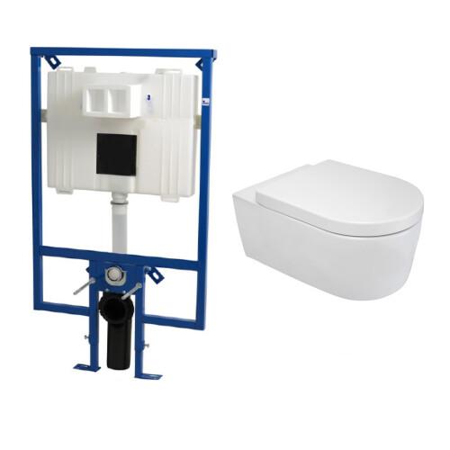 Plieger Flair Compact toiletset met Mueller Cora en softclose zitting
