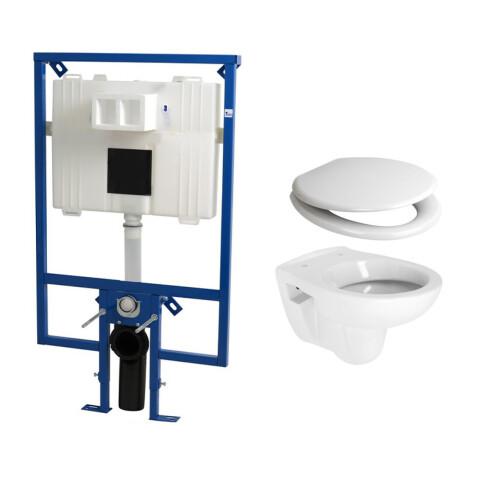 Plieger Flair Compact toiletset met Plieger Compact toilet en softclose zitting