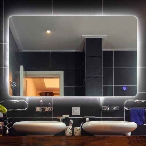 Saniclear Aspen spiegel 80x70cm met LED verlichting en spiegelverwarming