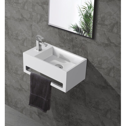 Saniclear Bali solid surface fontein 36x20cm links