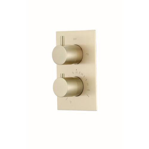 Saniclear Brass inbouw thermostaatkraan geborsteld messing / mat goud